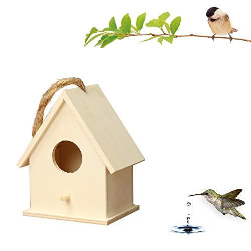 ToDIDAF, casetta per Uccelli in Legno da Parete per Esterni, casetta in Legno per la Decorazione della casa e del Giardino, 19 x 17 x 13 cm