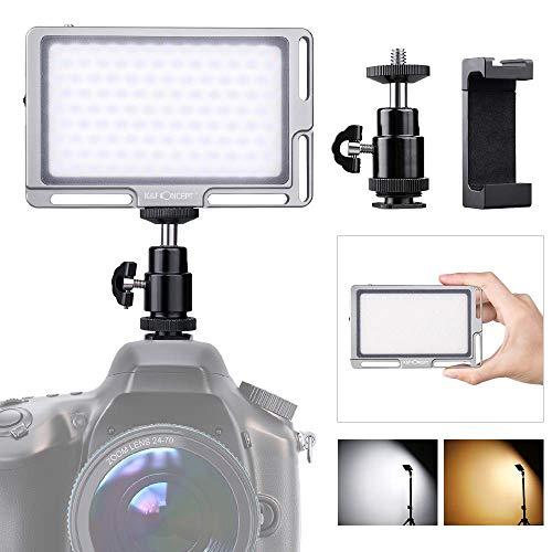 K&F Concept Panneau LED Ultra Mince 96 pcs Torche Vidéo LED Lampe Video Bicolore 3000K-6500K Clip...