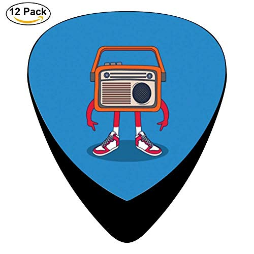 Radio Celluloid Electric Guitar Picks 12-pack Plectrums For Bass Music Tool