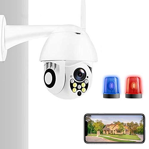 AINSS HD 2Mp Ptz Cámara Inalámbrica IP WiFi Exterior 1080P Speed Dome Cámara De Seguridad CCTV Pan Tilt 4X Zoom IR Audio Cámara De Vigilancia Cámaras Domésticas Impermeable 1080P Agregar 128G