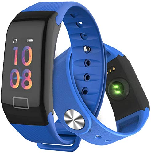 Fitness Trackers, Smart Watch Color Screen Activity Tracker with Heart Rate Monitor Blood Pressure Oxygen Detector Pedometer, IP67 Waterproof Sleep Monitor Smart Bands for Men Women Kids Android IOS