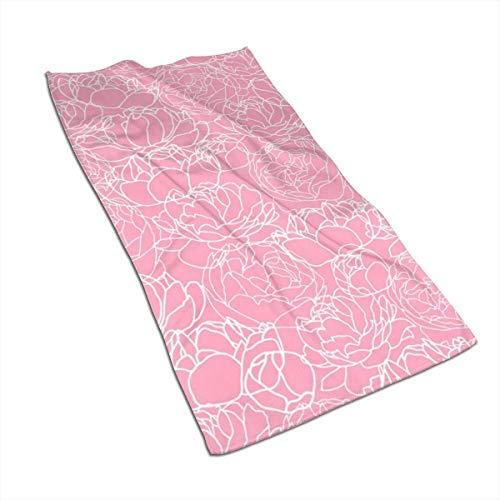 Tyueu Pink Peony - Toalla de mano y toalla, toallas de baño extra suaves, 27,5 x 44,5 cm