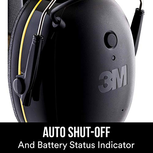 3M WorkTunes Connect Hearing Protector with Bluetooth Technology, 24 dB NRR, Ear protection for Mowing, Snowblowing, Construction, Work Shops