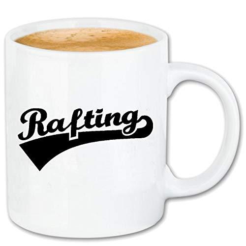 Reifen-Markt Kaffeetasse Rafting - WILDWASSER - SCHLAUCHBOOT - Rafting AUSRÜSTUNG - Rafting Tour Keramik 330 ml in Weiß