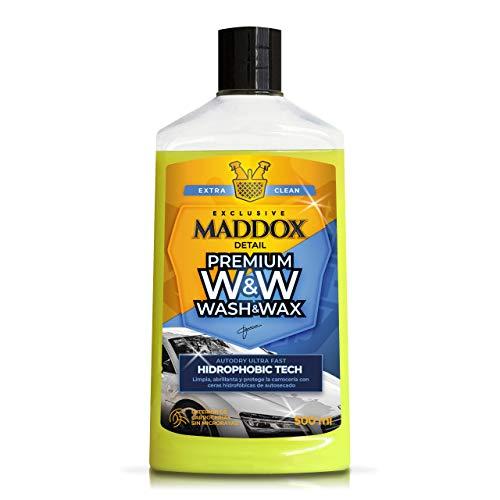 Maddox Detail - Premium Wash & Wax. Shampoo con Cere idrorepellenti per Una lucentezza Superiore. Non Serve Fare asciugare.
