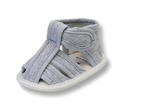 Baby Schuh-e TP31 Sandalen für Babies Mädchen und Jung-s zu Taufe-n und Hochzeit-en, Grau, 18 EU