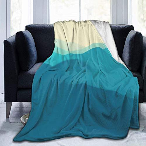 Pisang Mountain Landscape Fleece Blanket Ultra-Soft Micro für Couch oder Bett Warm Throw Blanket