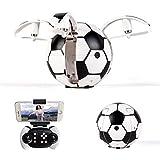 LJJOZ Portable Drone Football Mini Télécommande Avion Jouet WiFi Caméra Aérienne Quatre Axes Avions Cadeau Unique