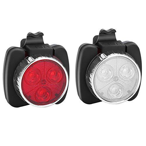 Hunletai Fahrradlichter Fahrradlampe Zugelassen Fahrradbeleuchtung LED Wasserdicht USB Aufladbar Fahrrad Licht