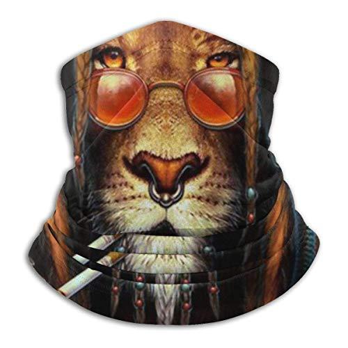 N / A Reggae Rasta Lion Fumar Cuello Pañuelo Viento Polvo Prueba Pasamontañas Microfibra Bufanda Elástico Polainas De Cuello para Mujer Hombre