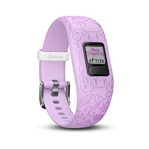 Garmin Vívofit Jr. 2 - Monitor de actividad para niños, Disney Princess Purple (Banda ajustable), Edad 4+