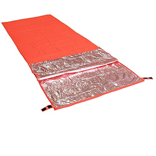 Saco de dormir 51 estaciones ultraligero portátil naranja 200 x 75 cm al aire libre camping viajes senderismo saco de dormir