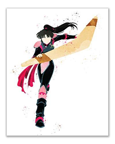 Watercolor Inuyasha Poster Prints - Set of 6 (8x10) Glossy Shonen Anime Final Act Manga Wall Art Decor - Inuyasha…