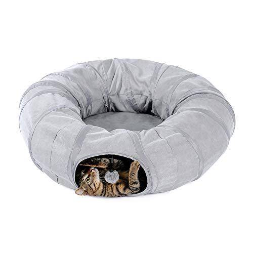 PAWZ Road túnel para Gatos Juguete para Gatos túnel para Perros Donut...