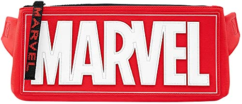 Marvel Loungefly Logo Unisex Riñonera Rojo/blanco/Negro, Nailon,
