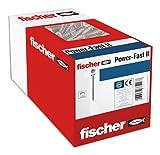 fischer 670393 caja de tornillos para madera rosca total 5x30, cincado