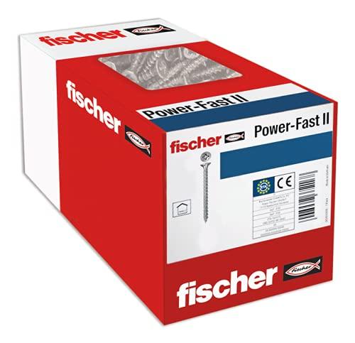 fischer 670499 caja de tornillos para madera rosca total 6x60, cincado
