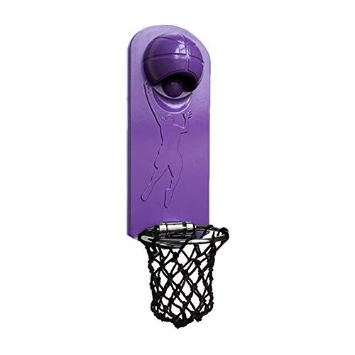 Yaootely Iron Multifunction Bottle Opener Wall Mounted with Magnetic Basketball Bottle Opener Cap Catcher-Purple