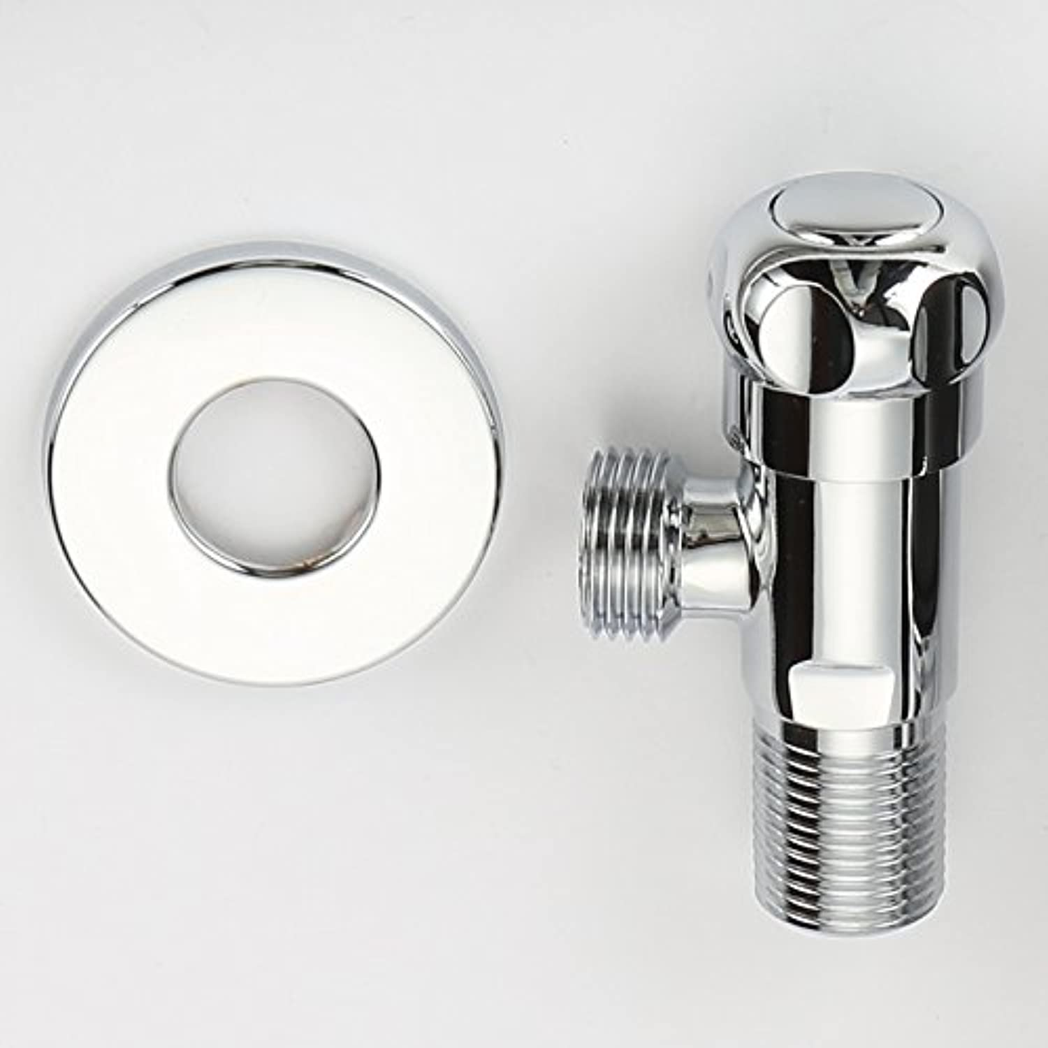 CZOOR Brass Chrome Plate Polished Kitchen Bathroom Accessories Angle Valve For Toilet   Sink   Basin   Water Heater Angle Valves