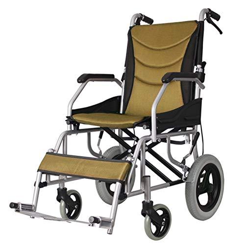 SXFYGYQ Rollstuhl-Falten Detachbar Clean Comfort, durchlässige, lichtschwere Leichtbauelemente, die Fahren