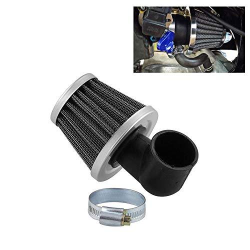 Luftfilter 50cc 2 Hub 90 Grad Bend Elbow 35mm Null Widerstand Filter für Motorrad ATV Pocket Bike Moto,Schwarz