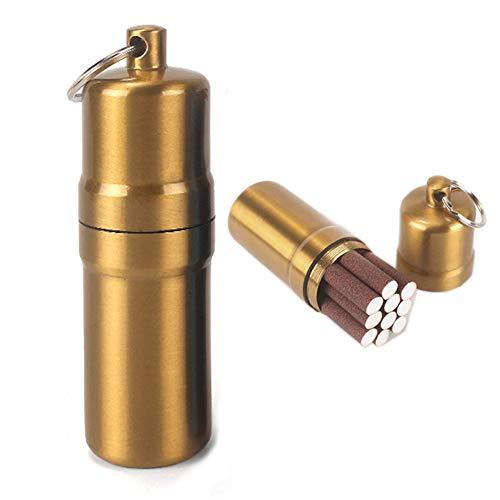NGE携帯灰皿 シガレットケース 10本 おしゃれ 防水 キーホルダー 合金 密閉 アウトドア 耐湿防圧 (ブロンズ)