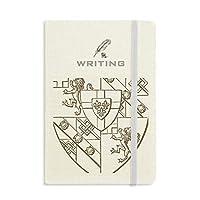 バロック・ライオン・シェルシールドのイラストパターン ノートブッククラシックジャーナル日記A 5を書く