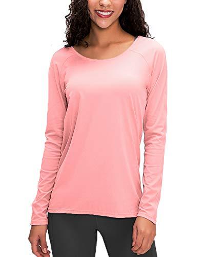 MAGCOMSEN Camiseta de verano para mujer con UPF 50+, de secado rápido,...