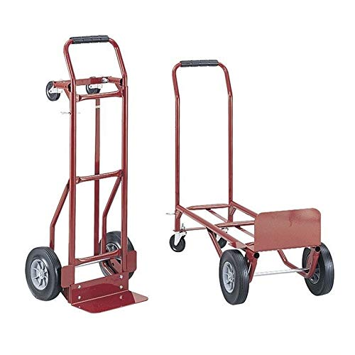 Pemberly Row Convertible Heavy-Duty Platform Hand Truck - Red