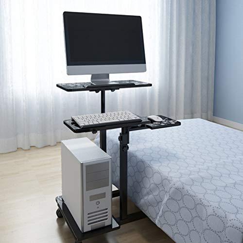 WSJIANP Desktop Computer Desk,Home Office Desk With Rolling Wheel,Gaming Desk With Main Frame,Multipurpose Office Desk