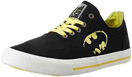 10. Batman Men's Black and Yellow Sneakers