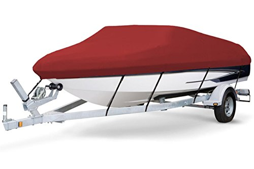 Review 7 oz Solution Dyed Polyester RED, Styled to FIT Boat Cover for Forest River South Bay 927 CR ...