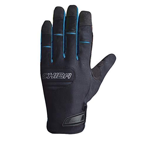 Chiba Herren Handschuhe Titan, Schwarz/Oceano, S