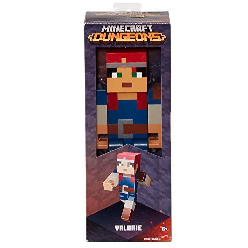 Minecraft GNF20 - Actionfigur Valorie (21 cm), beliebter Charakter aus Minecraft und Minecraft Dungeons, Große Figur ab 6 Jahren