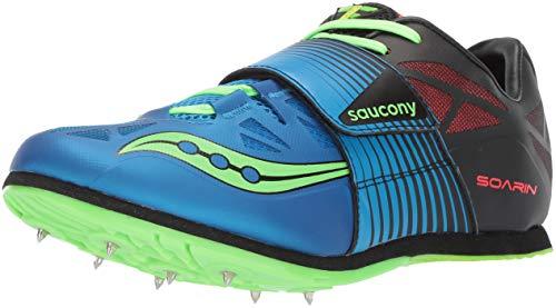 Saucony mens Soarin J2 Track Shoe, Blue/Slime, 9 US