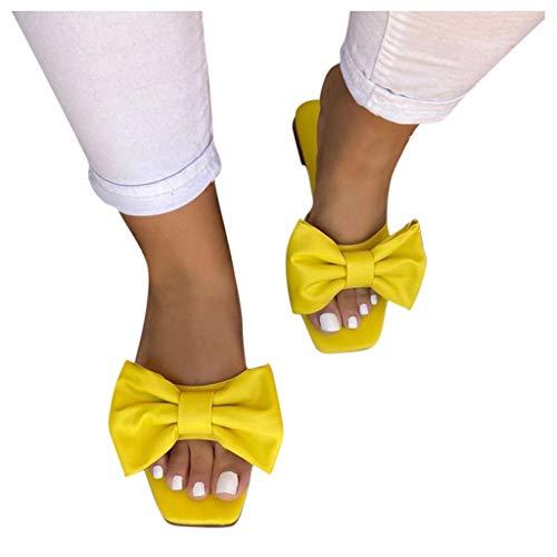 Dasongff Damen Sommer Sandalen Flache Flip Flops mit Bogen Freizeit Leichter Sandals Slides Pantoletten Dusch-& Badeschuhe Badeschlappen Strandsandalen Damenschuhe