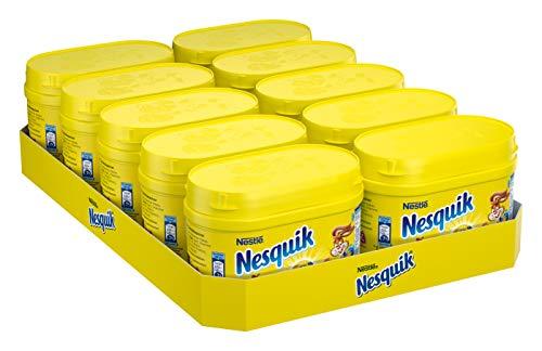 Nestlé NESQUIK, kakaohaltiges Getränkepulver zum Einrühren in Milch, mit Vitamin-Mix, für Schoko-Fans, 10er Pack (10 x 250g)