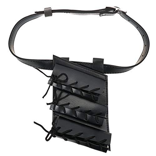 CoolChange Schwertgürtel 3fach aus PU Leder, Schwerthalter mit Gürtel für 3 Katana, Schwertgehänge