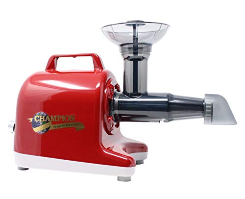 Review Champion Professional 5000 Dual Auger Variable Speed Masticating Juicer - Cherry Red