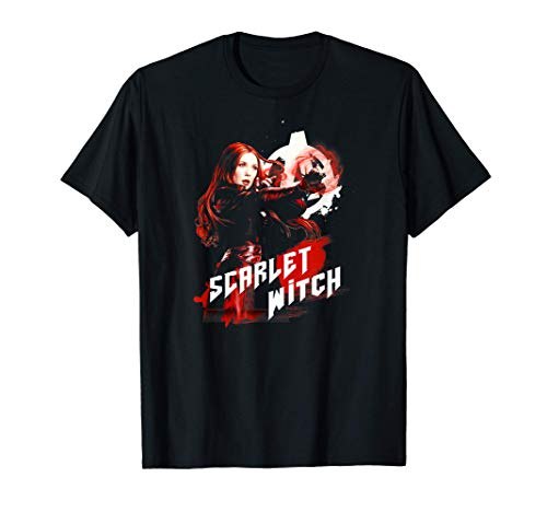 Marvel Infinity War Scarlet Witch Red Splat Camiseta