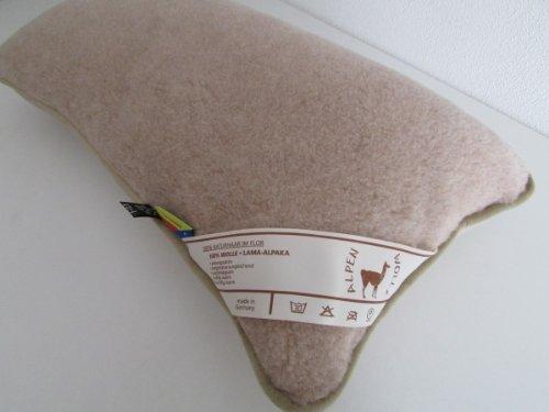Kopfkissen Alpaca Wolle und Merinowolle Größe: 40x80, Füllung 100% Hohlfaserkugeln von Sandler AG 850g.