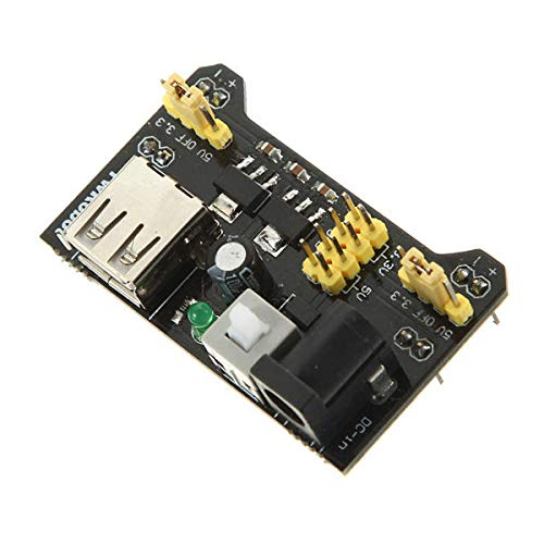 CONGCASE 5Pcs MB102 Breadboard Power Supply Module Adapter Shield 3.3V/5V For Arduino-products That Work with Official Arduino Boards