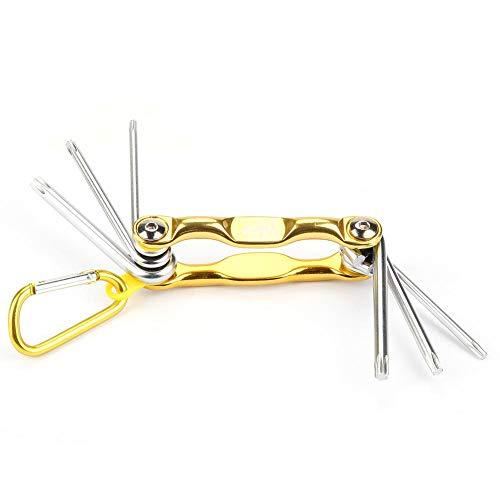 Aviviva Star Key Wrench Star bit Llave 6 en 1 Juego de Llaves Plegables Torx Star bit Kit de Destornillador de reparación Profesional Herramienta de Mano