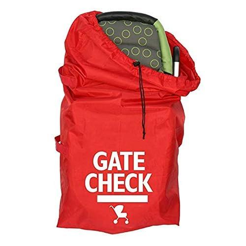Borsa da viaggio con motivo a scacchi per cancello, borsa da viaggio per passeggino standard e doppi, carrozzina, seggiolini auto, passeggini, colore rosso #81559