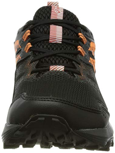 Asics Gel-Sonoma 6 G-TX, Trail Running Shoe Mujer, Black/Sun Peach, 39 EU
