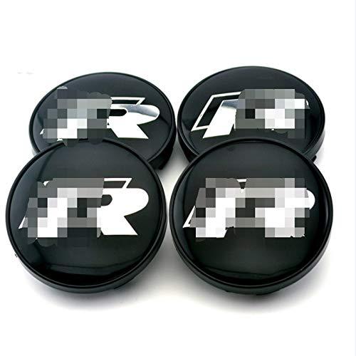 Coche Tapas centrales 4 unids / lote Coche de rueda de automóviles Cubiertas de centro de la rueda Emblema compatible con el logotipo R compatible con el golf R v.W RLINE COCH STYLING Accesorios para