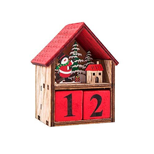 lossomly Lámpara de Navidad LED Santa Claus Casa Árbol de Navidad Adornos Lámpara Cabina Colgante Decoración Calendarios de adviento para el hogar Carefully