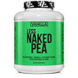 LESS NAKED PEA - VANILLA PEA PROTEIN - Pea Protein Isolate from North American Farms - 5lb Bulk, Plant Based, Vegetarian & Vegan Protein. Easy to Digest, Non-GMO, Gluten Free, Lactose Free, Soy Free