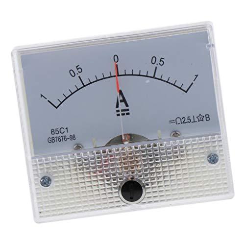 LOVIVER DC Kunststoff Analog Zeiger Amperemeter Ampere Meter Amp Panel 1A 5A 10AMechanischer Strommesser - 0-1A
