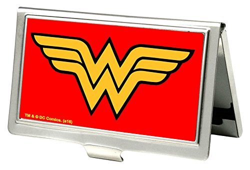 Buckle-Down Business Card Holder - Wonder Woman Logo Red - Small